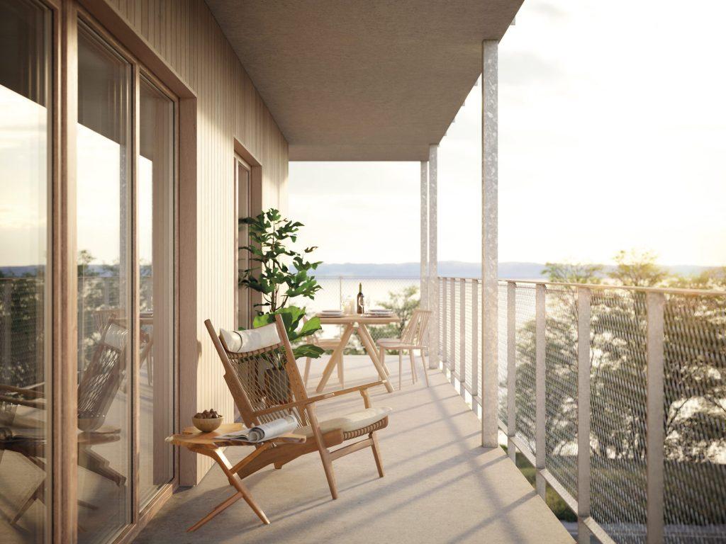 Balkongen från lägenheterna i Ängshusen Jönköping