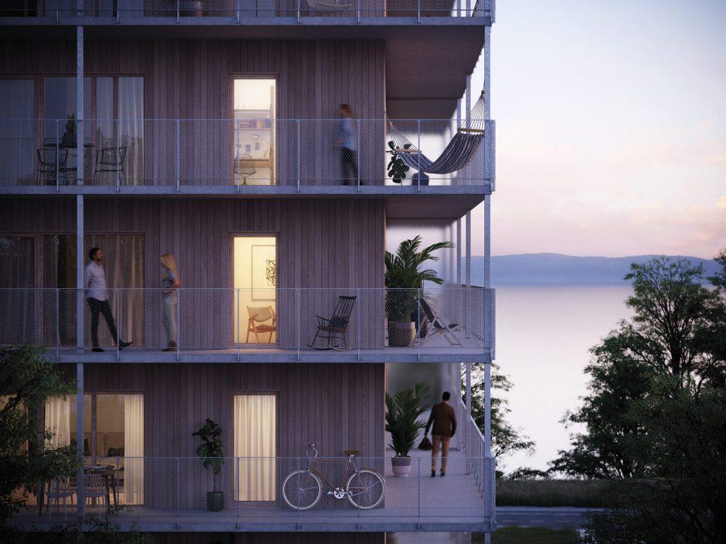 Utsikt vättern, lägenheterna i Ängshusen Jönköping