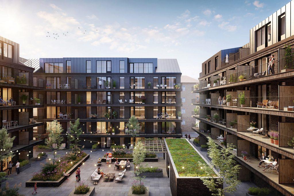 Mysig innergård - Köp lägenhet på East i Jönköping