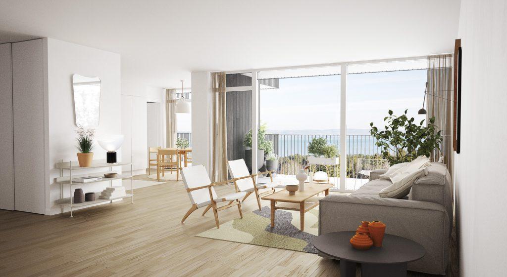 Ny lägenhet med fantastisk utsikt över Vättern, Nyproduktion i Habo